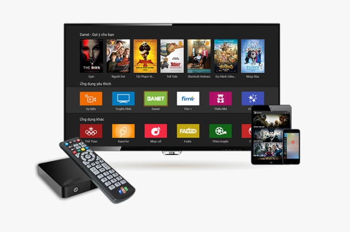 Giao diện truyền hình thông minh FPT cùng thiết bị FPT TV HD thế hệ mới